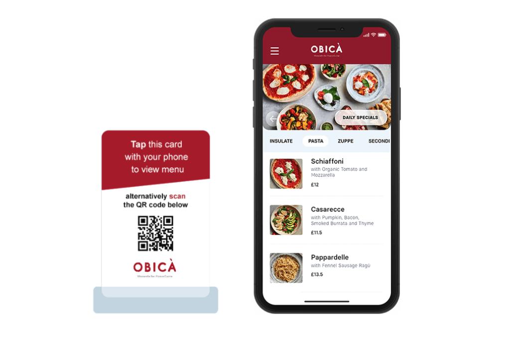 Contoh Digital Menu menggunakan QR Code
